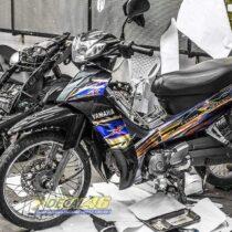 Tem xe Yamaha Sirius - 254 - Tem xe thiết kế Nano Spark chrome