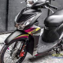 Tem xe Honda Vision - 006 - Tem xe thiết kế Petronas đen nhôm