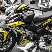 Tem xe Winner 150 - 425 - Tem xe Winner thiết kế Motocross candy vàng đen