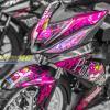 Tem xe Winner 150 - 437 - Tem xe Winner thiết kế Pink Panther candy hồng đen