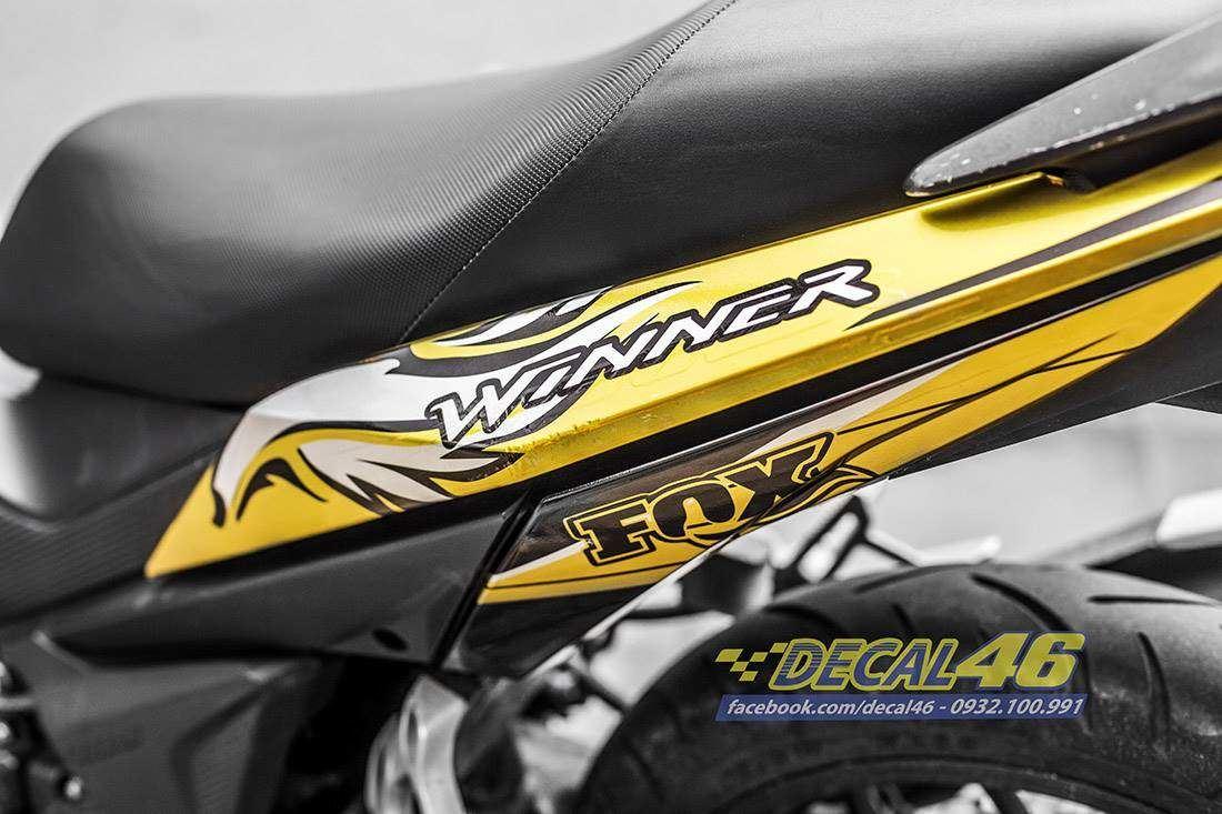 Tem xe Winner 150 - 430 - Tem xe Winner thiết kế Sói candy vàng đen