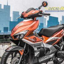 Tem xe Airblade 16 Honda - 091 - Tem xe thiết kế Brembo nhôm xước cam đen