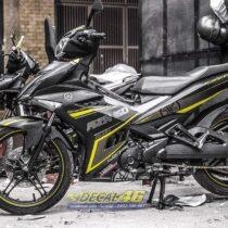 Tem xe Exciter 150 - 542 - Tem xe thiết kế RSX nhôm xước vàng đen
