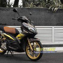 Tem xe Yamaha Nouvo - Tem xe thiết kế Puma nhôm vàng đen