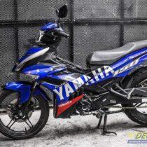 Tem xe Exciter 150 - 549 - Tem xe thiết kế Yamaha candy xanh bạc