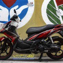 Tem xe Yamaha Nouvo - Tem xe thiết kế Proti nhôm đỏ đen