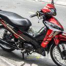 Tem xe Honda Wave – 021 – Tem xe thiết kế Shadow chrome đỏ đen