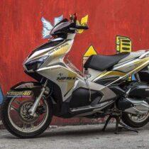 Tem xe Airblade 16 Honda - 097 - Tem xe thiết kế zin Indo nhôm
