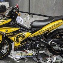 Tem xe Exciter 150 - 568 - Tem xe thiết kế Yamaha Motul candy vàng đen