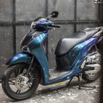 Tem xe Honda SH - Tem xe thiết kế Chuyển sắc xanh tím