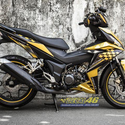 Tem xe Winner 150 - 471 - Tem xe Winner thiết kế Kozo candy vàng đen