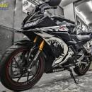 Tem xe Yamaha – Tem xe R15 Cá mập đen trắng