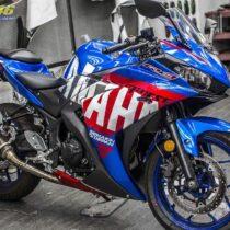 Tem xe PKL - Tem xe R3 thiết kế Yamaha xanh đỏ