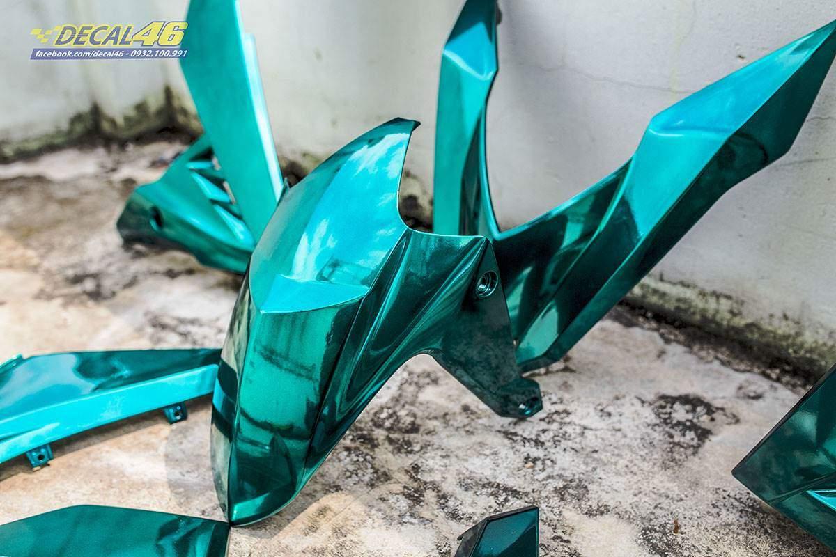 Sơn xe máy - Winner dàn áo chrome xanh ngọc bích