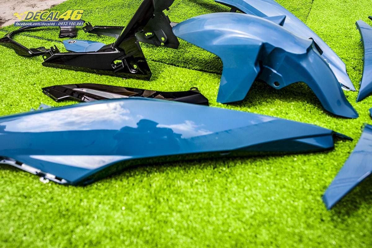 Sơn xe máy - Exciter dàn áo xanh xi măng