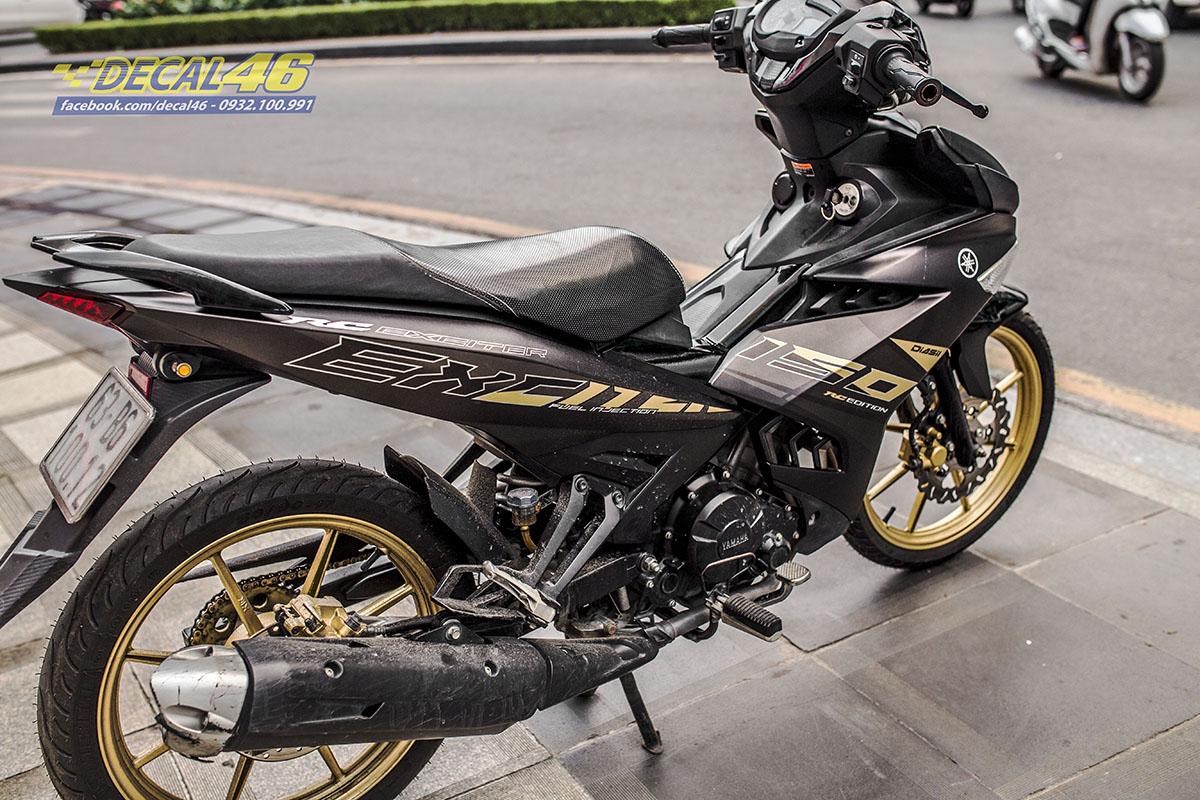 Tem xe Exciter 150 2019 - 063 - thiết kế Zin new version đen nhôm