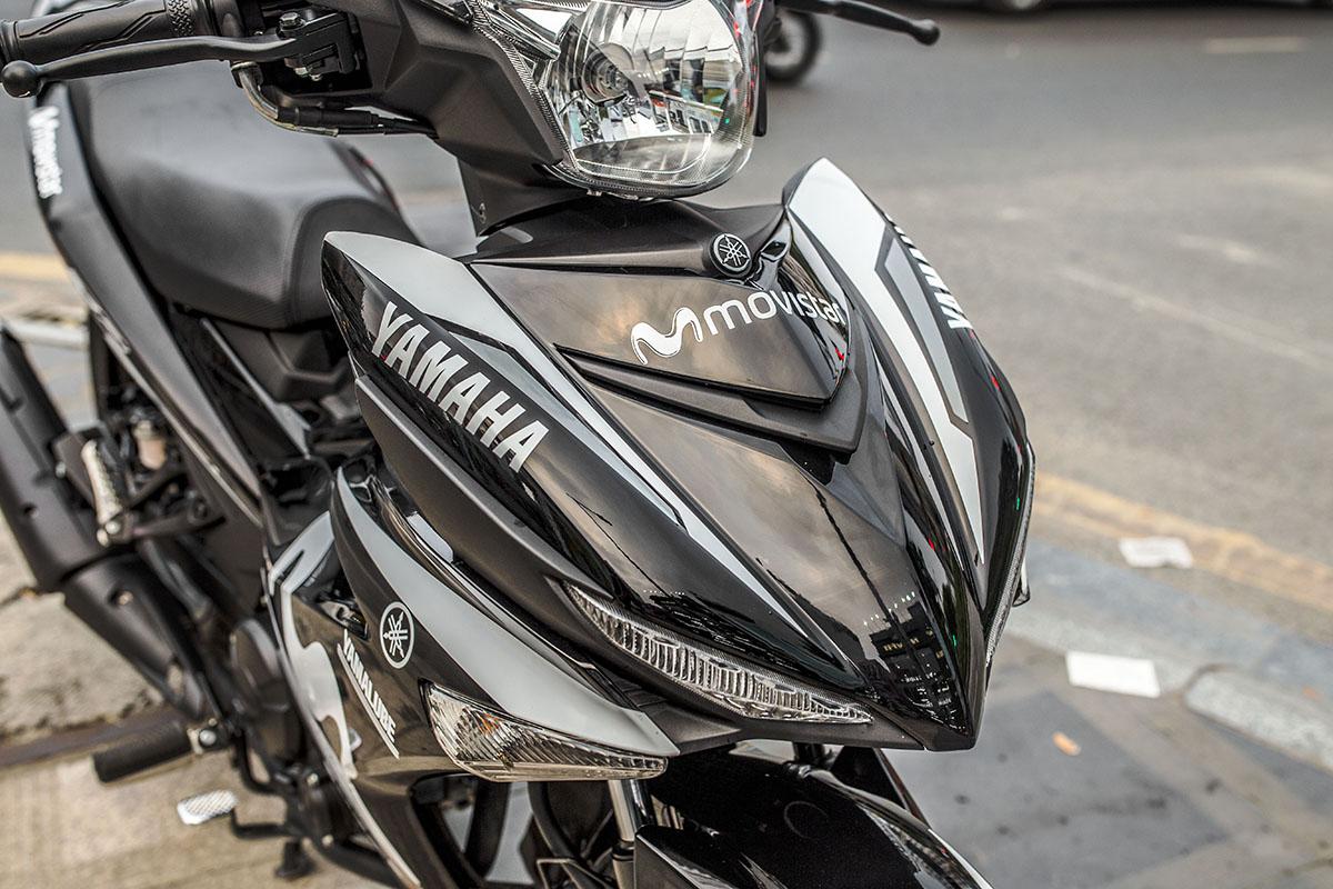 Tem xe Exciter 150 - 636 - thiết kế Movistar đen bóng