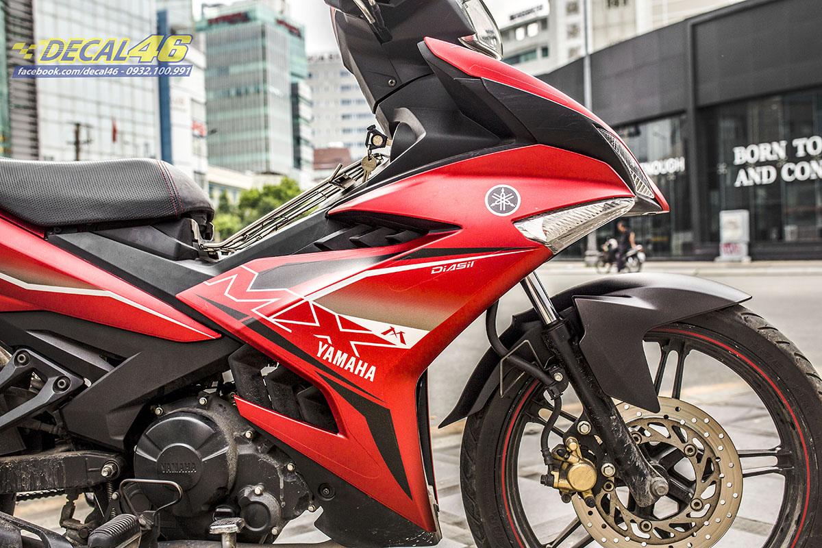 Tem xe Exciter 150 - thiết kế Mx zin đỏ đen nhôm