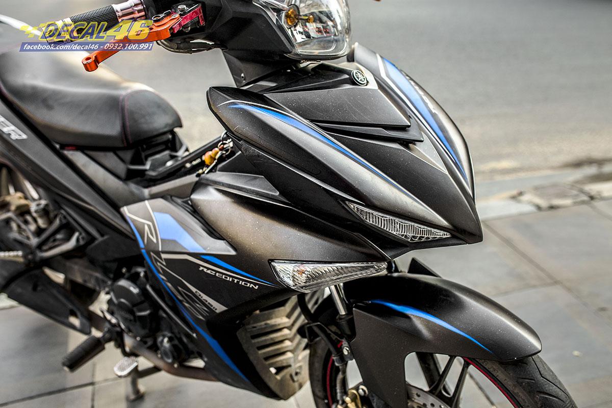 Tem xe Exciter 150 - thiết kế RC xanh đen nhôm