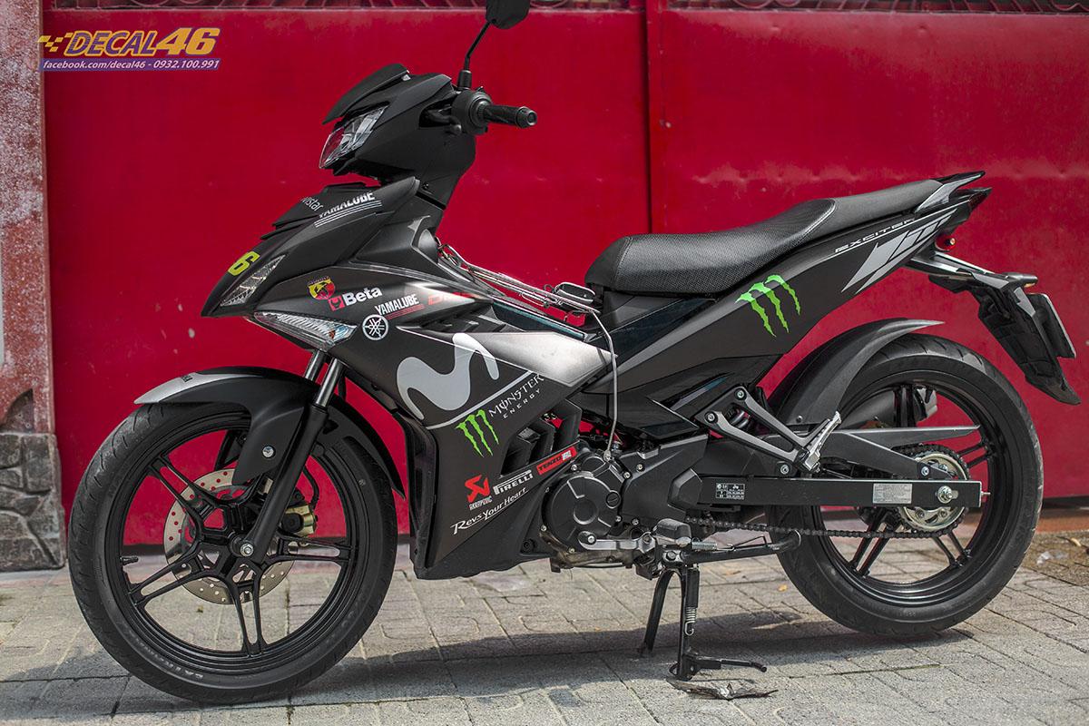 Tem xe Exciter 150 2019 - 067 - thiết kế Movistar đen nhôm
