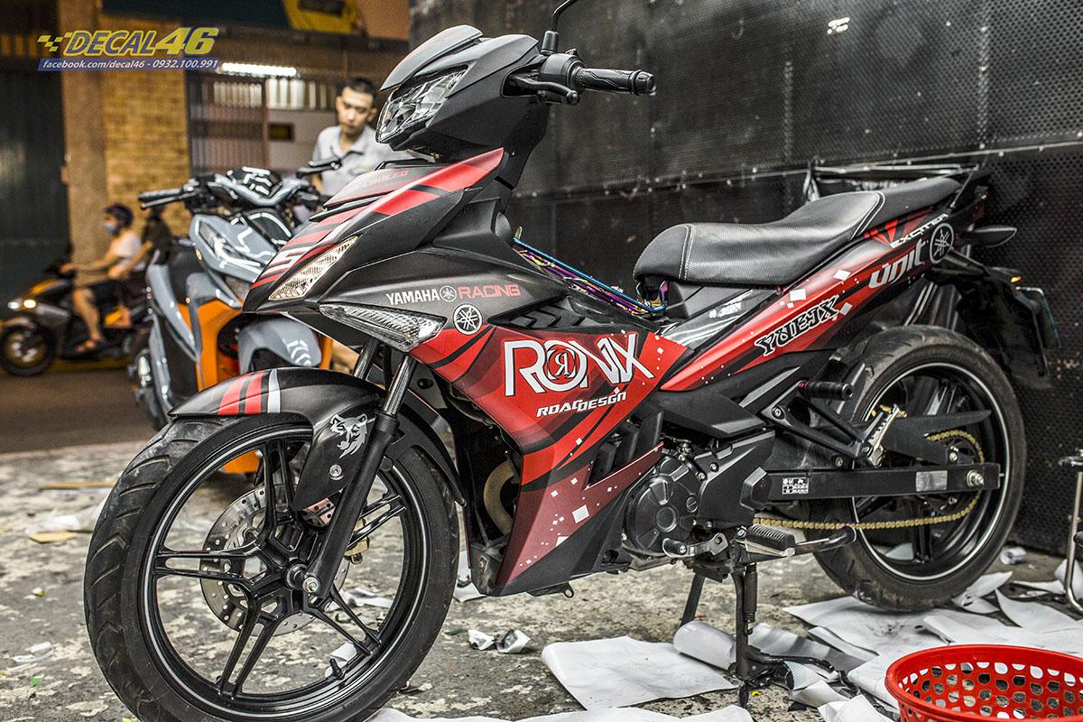 Tem xe Exciter 150 2019 - 066 - thiết kế Ronix đỏ đen nhôm