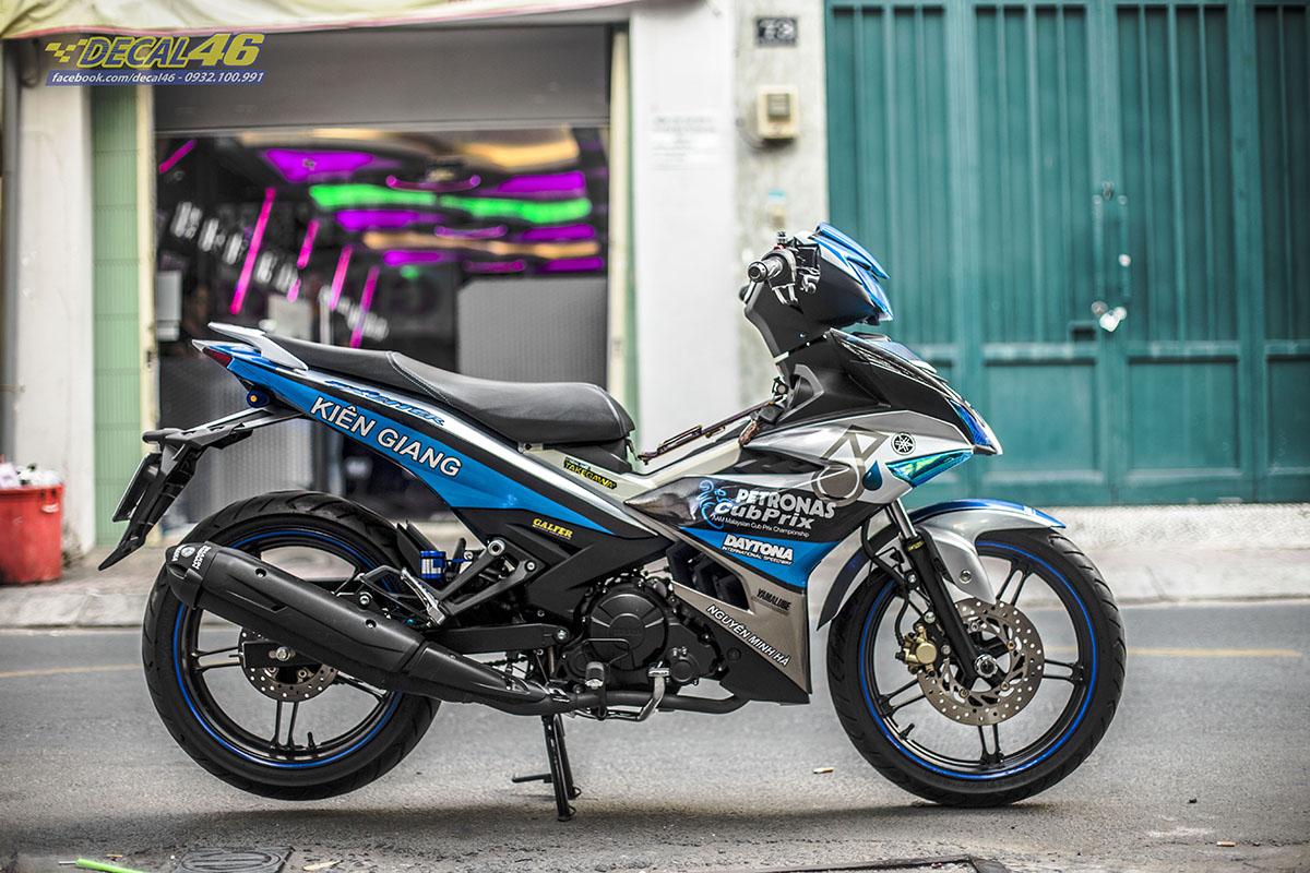 Tem xe Exciter 150 2019 - thiết kế Petronas xanh bạc đen