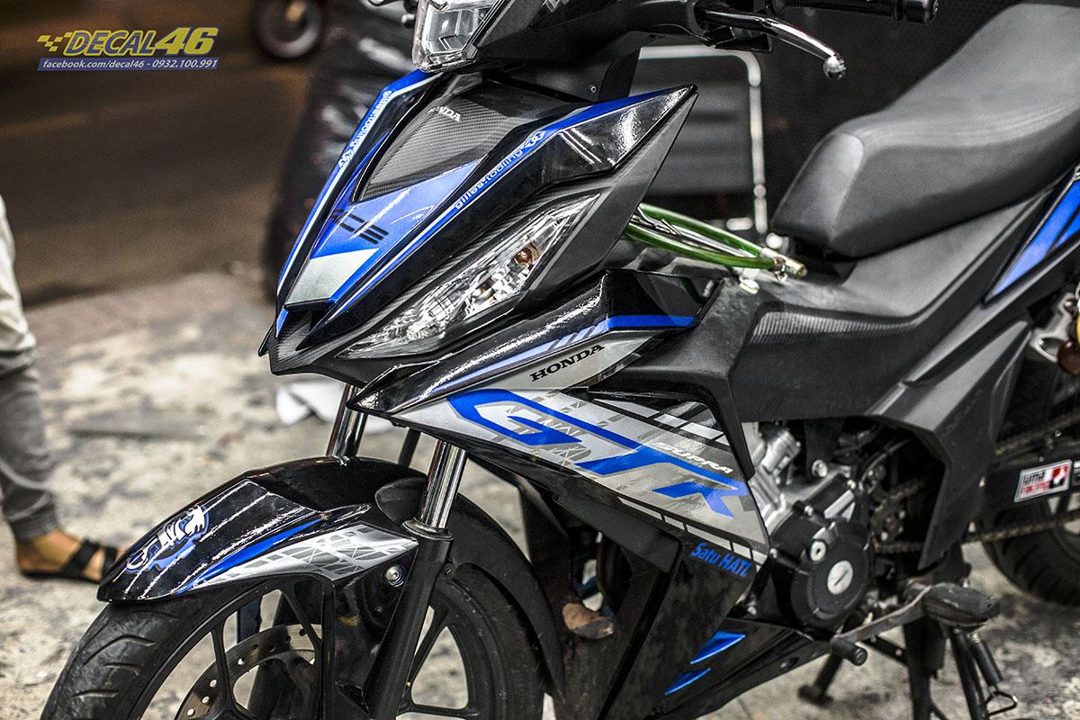 Tem xe Winner 150 - 521 - thiết kế GTR 2020 candy xanh đen
