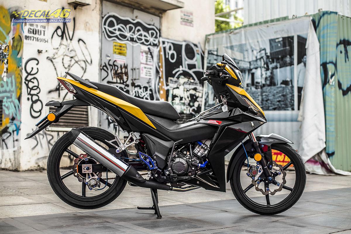 Tem xe Winner 150 - 524 - thiết kế đen vang Ducati