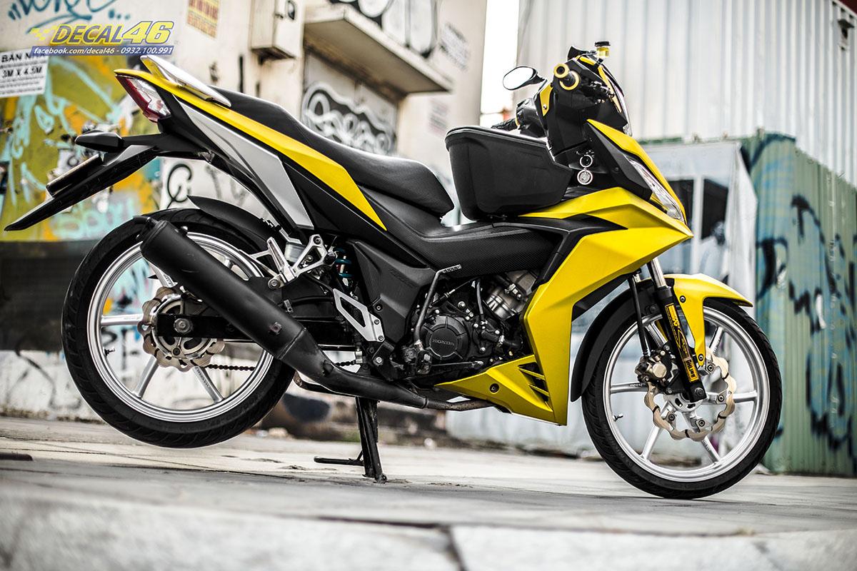 Tem xe Winner 150 - 530 - thiết kế vàng đen xước