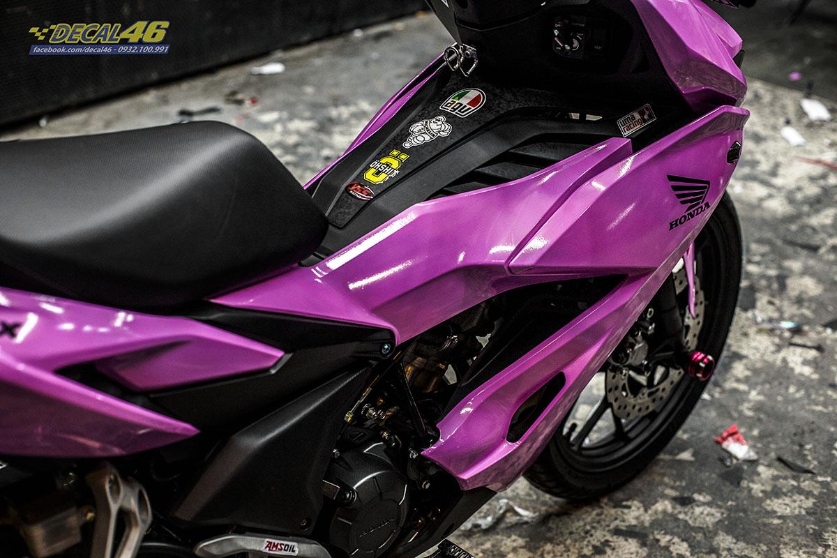 Tem xe Winner X - 060 - thiết kế hồng phấn