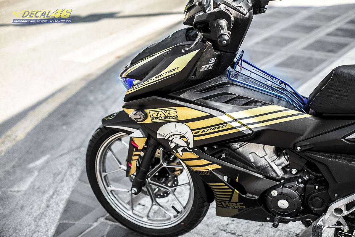 Tem xe Winner X - 074 - thiết kế Spatar đen đồng nhôm