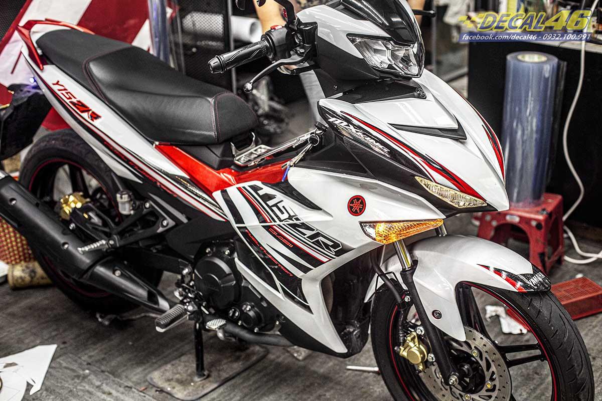 Tem xe Exciter 150 2019 - 097 - thiết kế Y15ZR trắng đỏ