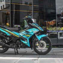 Tem xe Exciter 150 - 683 - thiết kế Y15ZR chrome xanh đen
