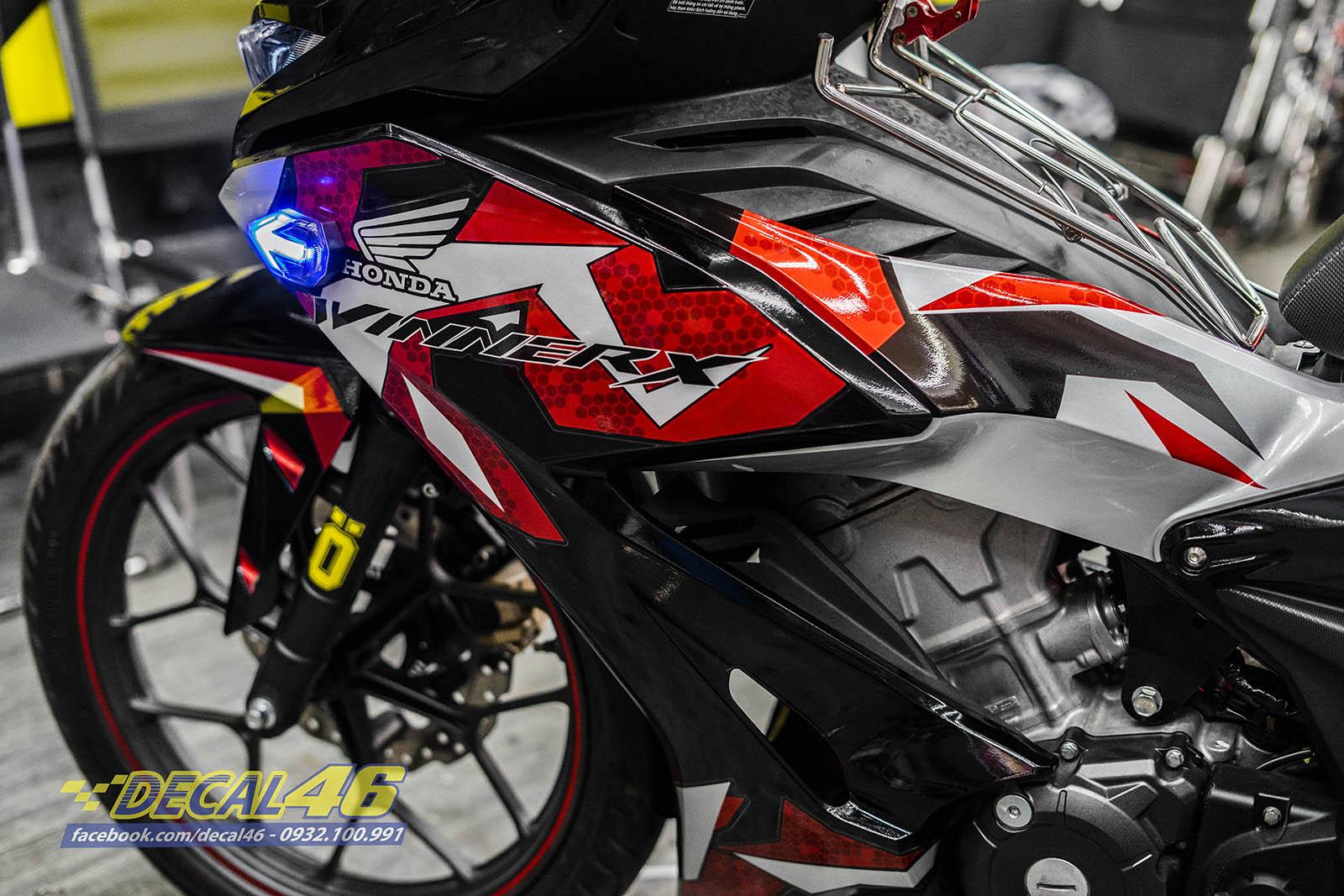 Tem xe Winner X Filber đỏ bạc đen candy (7)