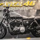 Tem xe Harley Davidson Trống Đồng