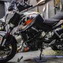 Dán PPF mờ (mattle) KTM Duke 200